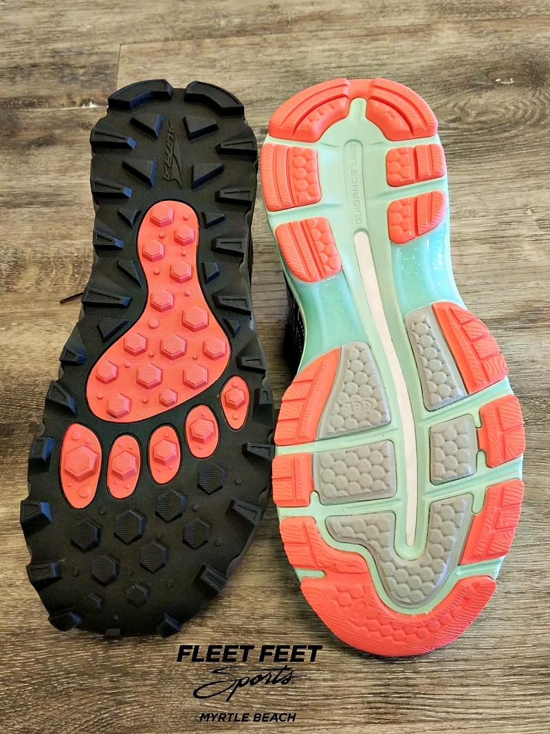 Trail Shoe vs. Road Shoe Tread